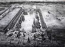 Greenland Dock in the 1720's.